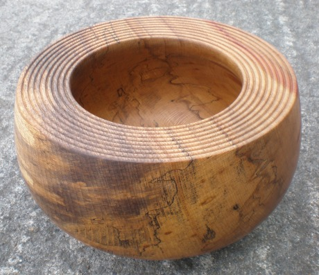 Deep Bowl with Grooved and Undercut Rim